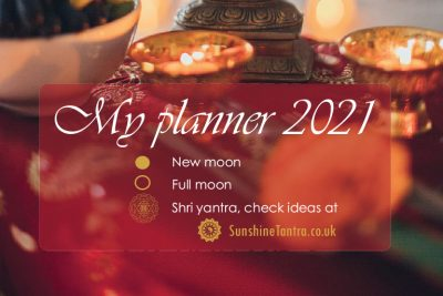 Printable 2021 Monthly Calendar with moon cycles